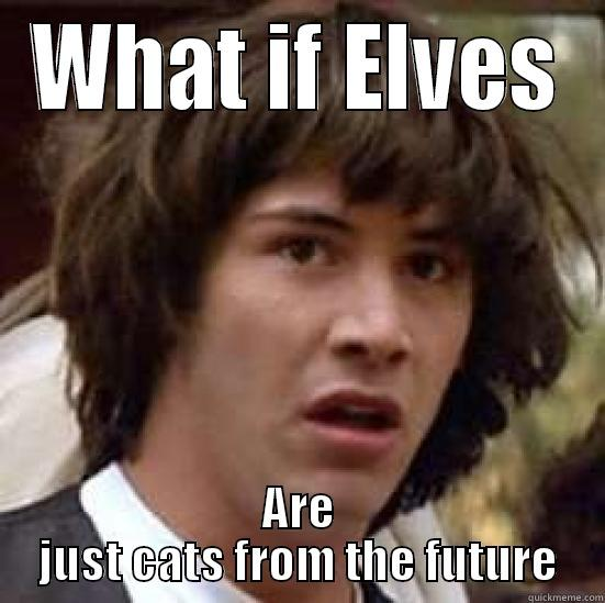 Future Elves - WHAT IF ELVES ARE JUST CATS FROM THE FUTURE conspiracy keanu