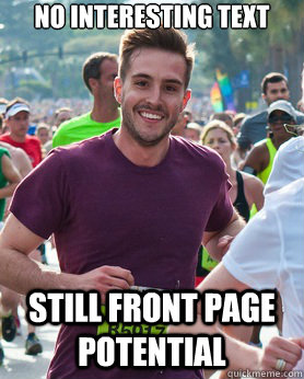 no interesting text still front page potential - no interesting text still front page potential  Ridiculously photogenic guy
