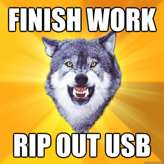 Finish Work RIP OUT USB - Finish Work RIP OUT USB  Courage Wolf