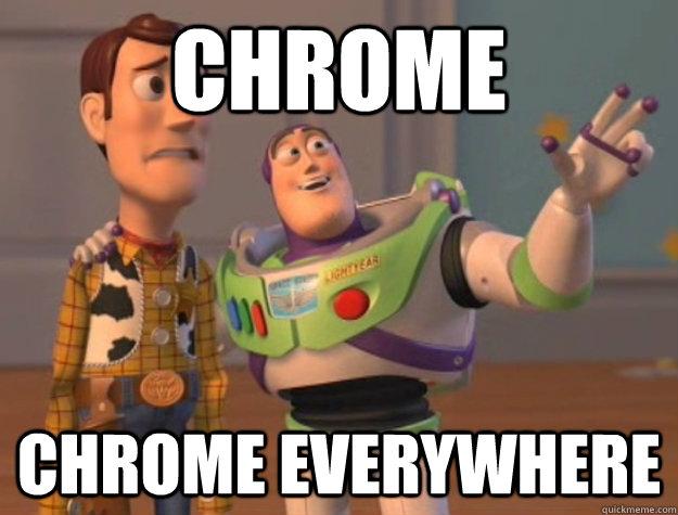 CHROME CHROME EVERYWHERE  Buzz Lightyear