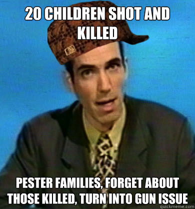 20 children shot and killed pester families, forget about those killed, turn into gun issue