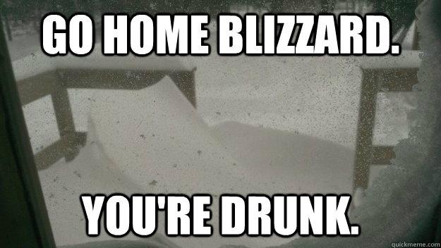 Go Home Blizzard You Re Drunk 2013 Blizzard Quickmeme