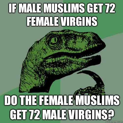 How many virgins do muslims get