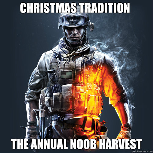 Christmas Tradition the annual noob harvest