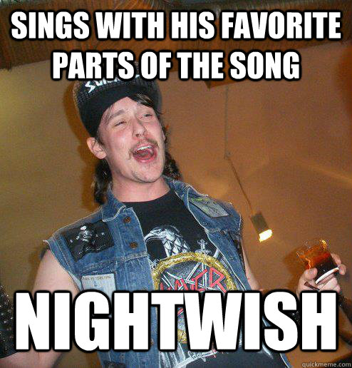 sings with his favorite parts of the song nightwish