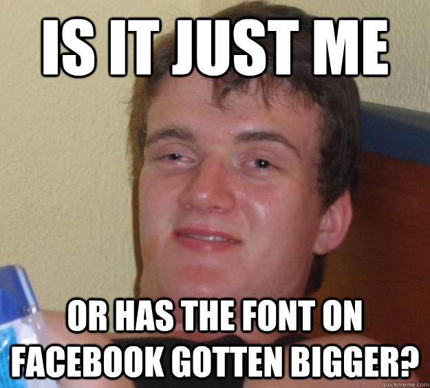 how to make font bigger in facebook