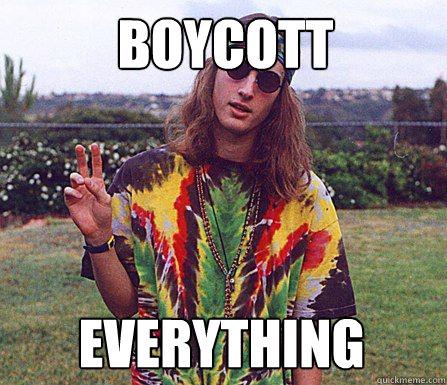 Boycott  everything