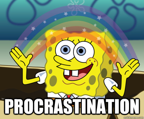 PROCRASTINATION  Spongebob rainbow