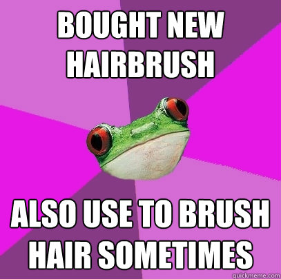 Bought New Hairbrush Also Use To Brush Hair Sometimes - Foul Bachelorette Frog - Quickmeme
