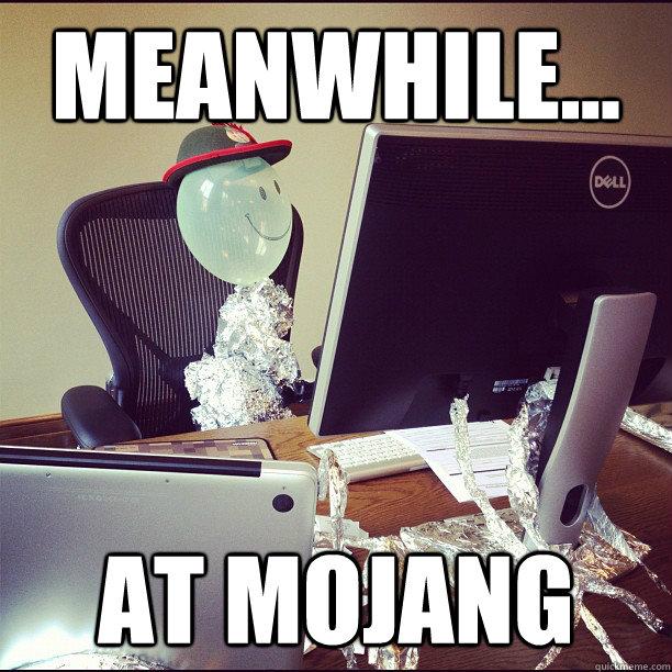 Meanwhile... at Mojang - Meanwhile... at Mojang  Balloon-Man Manneh