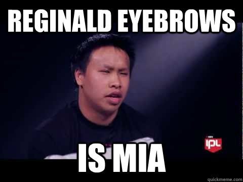89a6378cdbc060bb0d386219deab7b2a0b9de2b75147493415624347bca426b3 reginald eyebrows is mia regi quickmeme