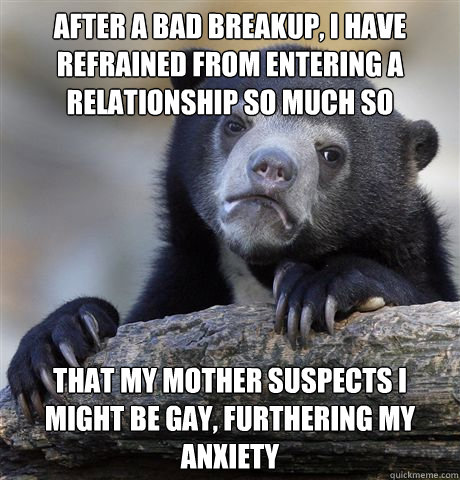 breakup and new relationship anxiety