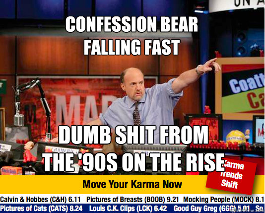 Confession Bear  Falling Fast Dumb shit from the '90s on the rise  Mad Karma with Jim Cramer