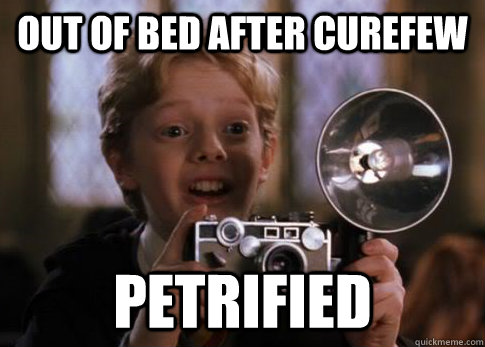 Out of bed after curefew petrified