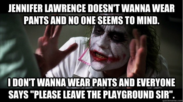 29c6ed9e88ea5 Jennifer Lawrence doesn't wanna wear pants and no one seems to mind ...