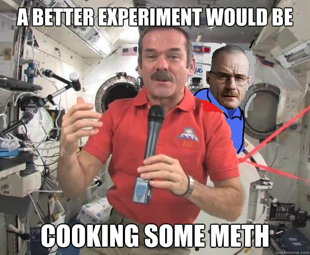 A better experiment would be cooking some meth - A better experiment would be cooking some meth  Misc