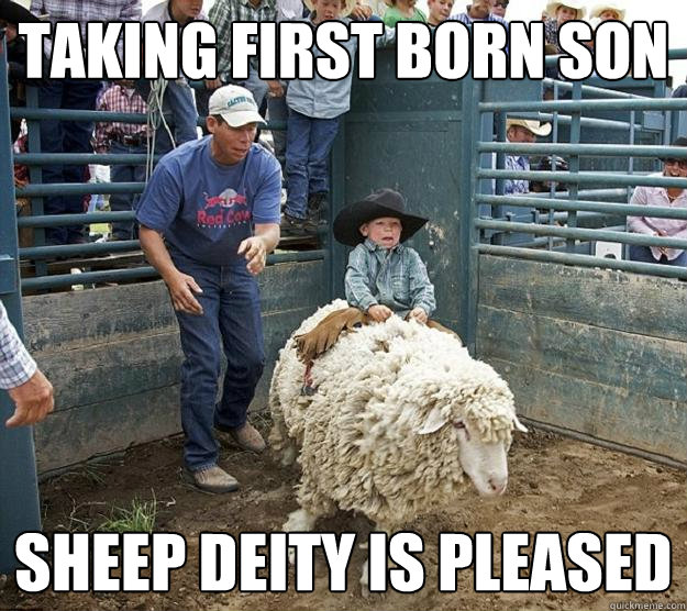 Taking first born son Sheep deity is pleased - Taking first born son Sheep deity is pleased  Misc