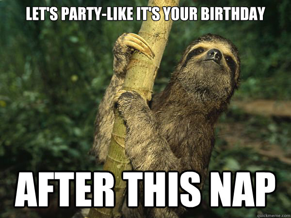 Happy birthday sloth meme - photo#24