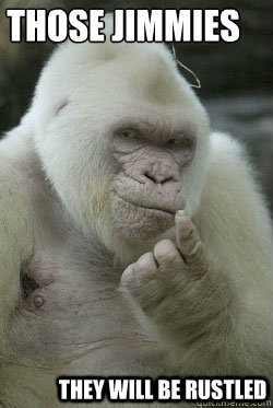 Those jimmies They will be rustled - Those jimmies They will be rustled  Albino Gorilla Jimmy Rustler
