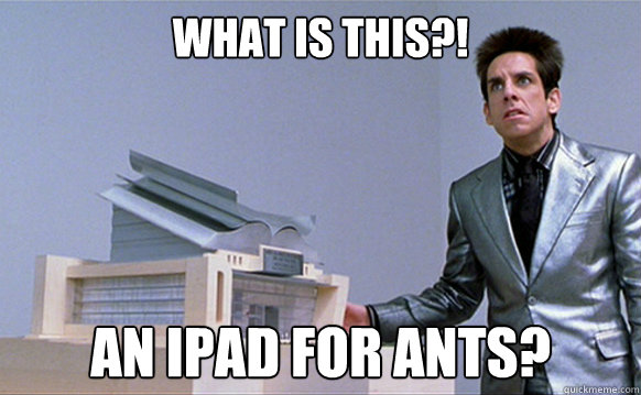 What is this?! an ipad for ants? Caption 3 goes here