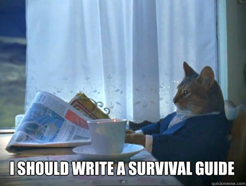 I should write a survival guide