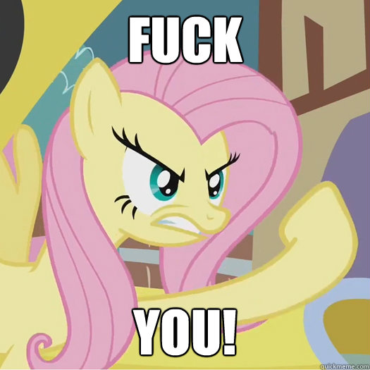 FUCK YOU! - FUCK YOU!  Flipoff Pony