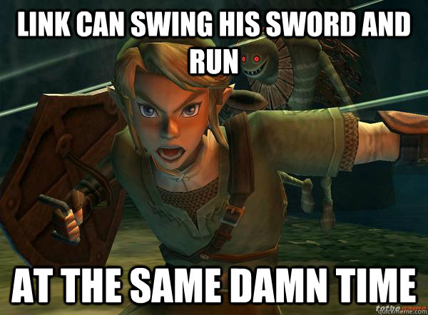 Link can swing his sword and run At the same damn time - Link can swing his sword and run At the same damn time  Misc