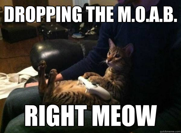 dropping the m.o.a.b. right meow