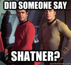 Image result for william shatner memes