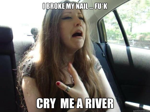 8b99851bdfaa76c0640689b83e6bbae09c8a1505a832a4ba15a4bf613e35120c i broke my nail fu*k cry me a river oana quickmeme