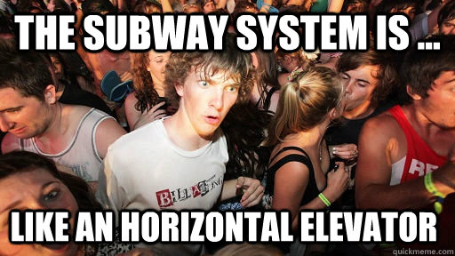 The Subway System is ... Like an Horizontal Elevator - The Subway System is ... Like an Horizontal Elevator  Sudden Clarity Clarence
