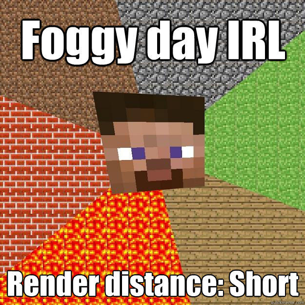 Foggy day IRL Render distance: Short - Foggy day IRL Render distance: Short  Minecraft