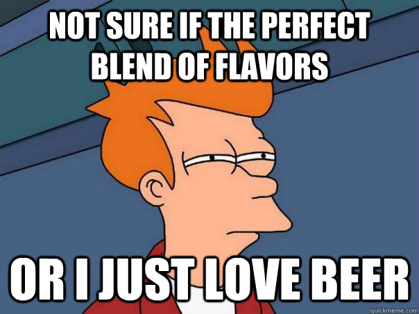 Not sure if the perfect blend of flavors Or I just love beer - Not sure if the perfect blend of flavors Or I just love beer  Futurama Fry