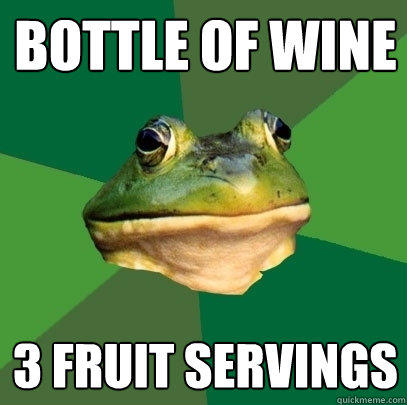 BOTTLE OF WINE 3 FRUIT SERVINGS - BOTTLE OF WINE 3 FRUIT SERVINGS  Foul Bachelor Frog
