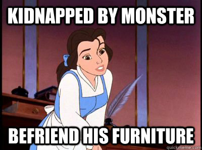 Kidnapped by monster Befriend his furniture