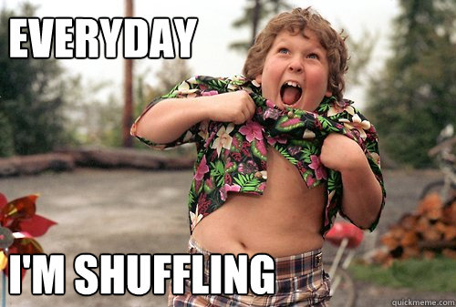 Everyday    I'm Shuffling  Party Rock