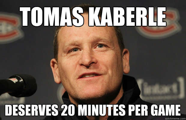 tomas kaberle  deserves 20 minutes per game - tomas kaberle  deserves 20 minutes per game  Dumbass Randy Cunneyworth