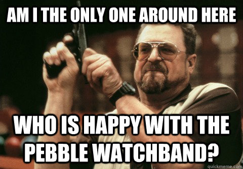 Am I the only one around here Who is happy with the pebble watchband? - Am I the only one around here Who is happy with the pebble watchband?  Am I the only one