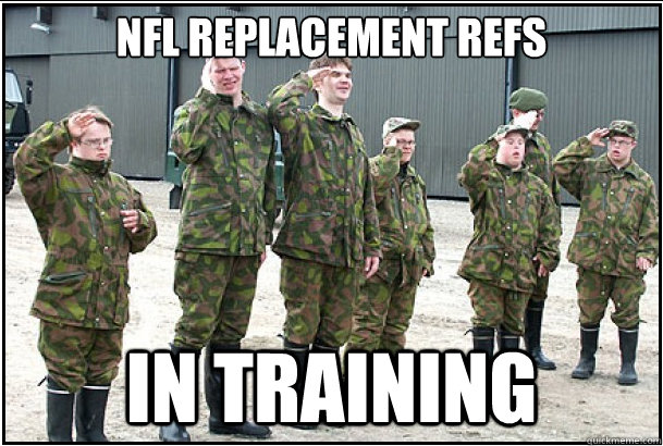 NFL Replacement REFS IN training - NFL Replacement REFS IN training  Misc