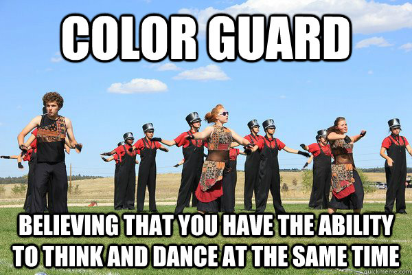 Funny Guard Clip Art: Color Guard Believing That You Have The Ability To Think