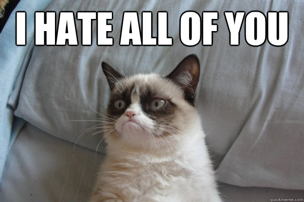 i hate all of you  GrumpyCatOL