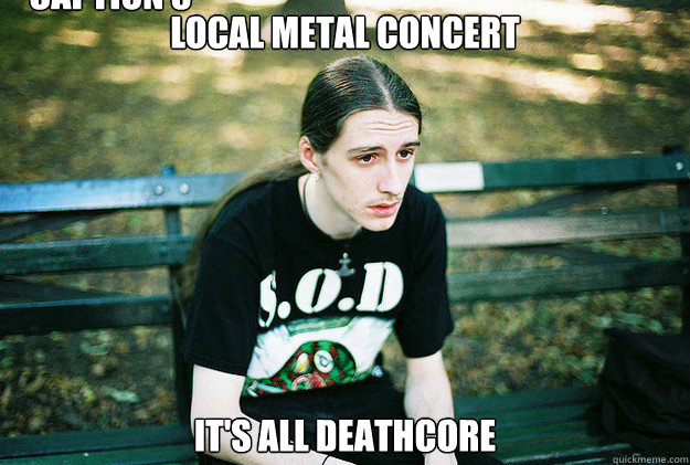 Local metal concert it's all deathcore Caption 3 goes here  First World Metal Problems
