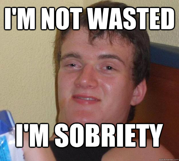 I'm not wasted I'm sobriety - I'm not wasted I'm sobriety  Misc