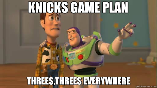 Knicks Game Plan threes,threes everywhere - Knicks Game Plan threes,threes everywhere  Everywhere