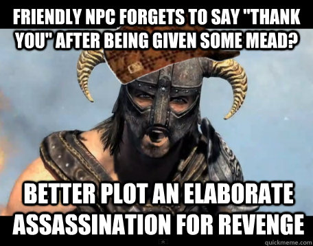 Friendly NPC forgets to say