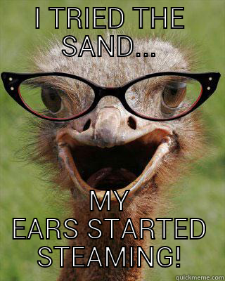 I TRIED THE SAND... MY EARS STARTED STEAMING! Judgmental Bookseller Ostrich
