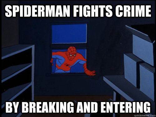 Spiderman fights crime and lays pipe hos - 4 4