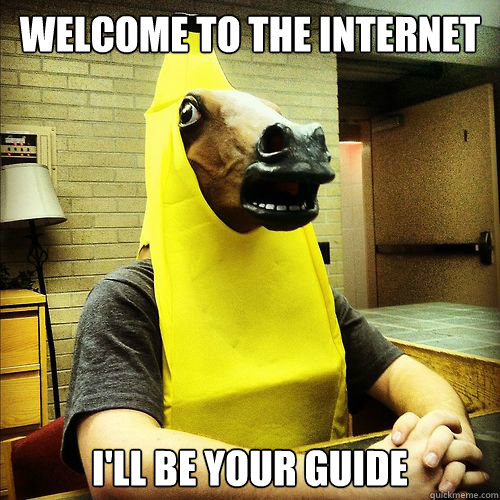 Welcome to the internet I'll be your guide - Banana Horse ...