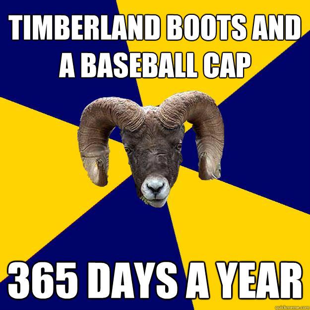 timberland boots and  a baseball cap 365 days a year - timberland boots and  a baseball cap 365 days a year  Suffolk Kid Ram