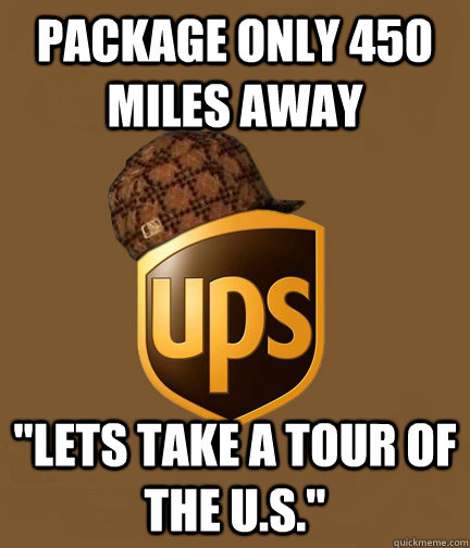 package only 450 miles away